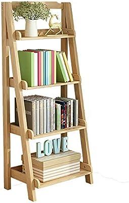 ZR- Estantería Estilo Escalera Unidades Exhibición Almacenamiento Y Escritorio, Estantería de Pared Librería 5 Niveles (Color : Madera, Tamaño : 44x36x140cm): Amazon.es: Hogar