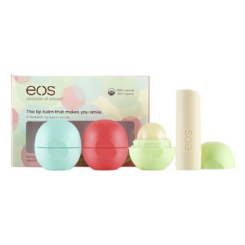 eos Smooth Lip Balm Sphere 4 Flavor Multi-Pack, Assorted 1 e