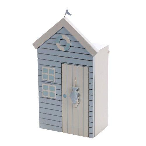 Salco - Caja para llaves (18 x 30 cm), diseño de caseta de playa, color azul: Amazon.es: Hogar