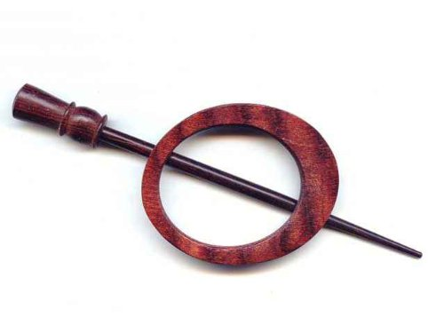 Knitter-s Pride Knitter's Pride Shawl Pins, 22 - Omega / Symfonie Wood Rose