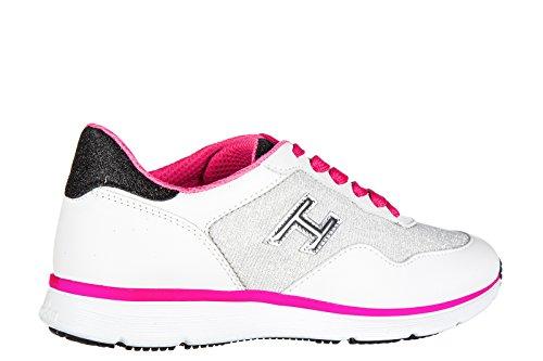 Hogan Scarpe Da Donna Scarpe Da Tennis Di Cuoio Delle Donne Scarpe Da Ginnastica Bianche H254