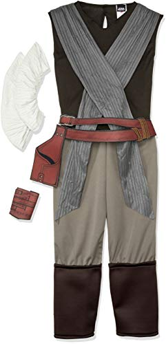 Rubie's Star Wars Episode VIII: The Last Jedi Women's Deluxe Rey Costume As Shown Medium