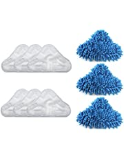 TOOWEL Replacement 3pcs Microfiber & 1pcs Coral Mop Pads,Compatible with H2O H20 Steam Mop
