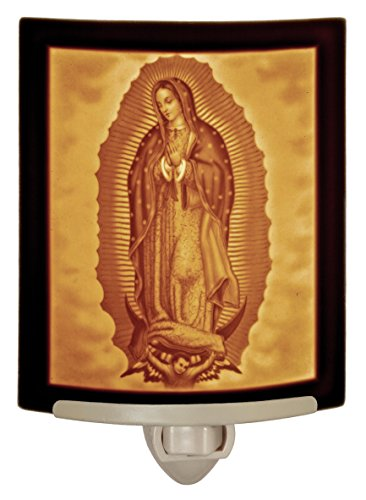 Our Lady of Guadalupe - Mother Mary Curved Porcelain Lithophane Night Light ()
