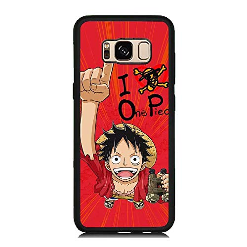 new style c20d8 f045d Amazon.com: Galaxy S8 Case, [Black] Anime One Piece Luffy Galaxy S8 ...