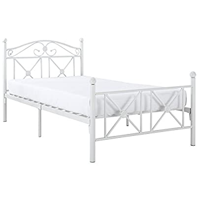 Modway Cottage Modern Farmhouse Metal Twin Platform Bed in White -  - bedroom-furniture, bed-frames, bedroom - 41Htlxzgu2L. SS400  -