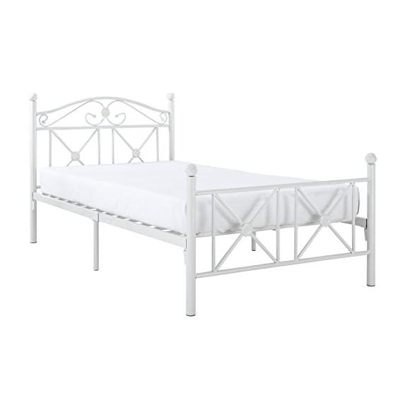 Modway Cottage Modern Farmhouse Metal Twin Platform Bed in White -  - bedroom-furniture, bedroom, bed-frames - 41Htlxzgu2L. SS570  -