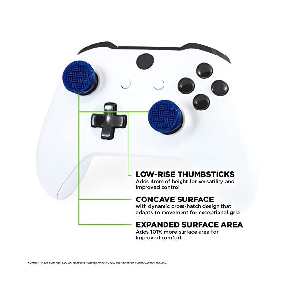 KontrolFreek Omni for Xbox One Controller | 2 Performance Thumbsticks | 2 Low-Rise Concave | Blue 2