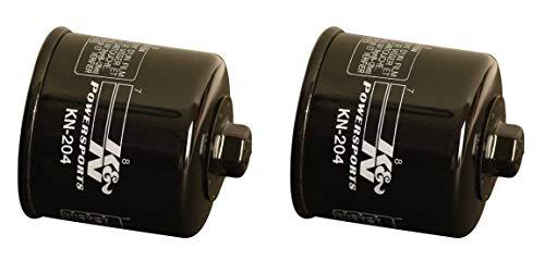 - K&N KN-204 Motorcycle/Powersports High Performance Oil Filter, Black