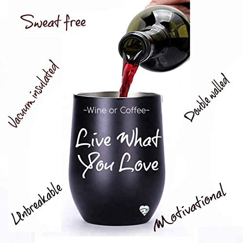 enlightening sign decor.htm amazon com wine tumbler with lid and straw 12 oz double wall  amazon com wine tumbler with lid and