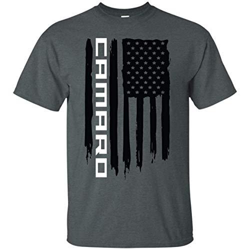 Wheel Spin Addict Chevy Camaro Flag T-Shirt SS RS LT1 ZL1 Dark Heather ()
