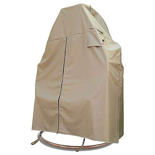Flexiyard Patio Hanging Chair Cover with Adjustable X-Lock System and Zipper, Easy On Easy Off, Heavy Duty Waterproof 600D Oxford Patio 2 Person Swing Egg Chair Cover, 78