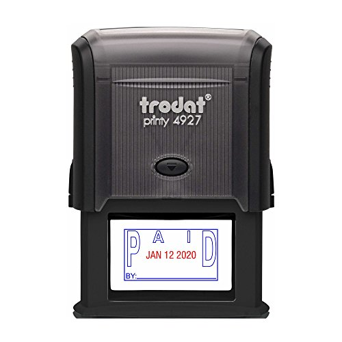 TRODAT 4729P4-B/R - Self-Inking Paid (OUTLINE Text) Date ...
