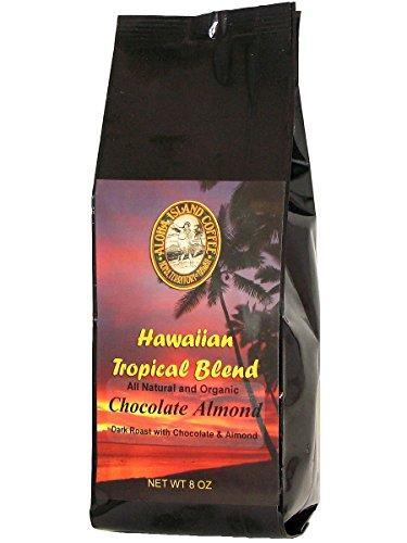 Chocolate Almond Flavored, Kona Hawaiian Coffee Merge, 8 Oz, Ground