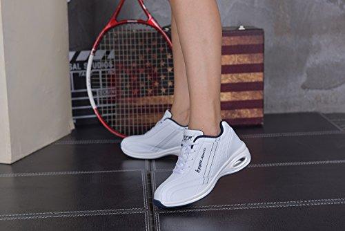 tqgold Damen Turnschuhe Sportschuhe Gym Fitnessschuhe Laufschuhe Bequeme Leichte Sneaker Schuhe Weiß