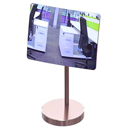 - Desk and Cubicle Mirror to See Behind You, Rose-Gold Stand with Detachable Wide Angle Real Glass Mirror, Small & Discrete, Beautiful Design, Perfect Curvature for an exceptionally Clear View