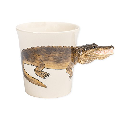 Alligator 8 oz. Ceramic Stoneware Hand Painted Coffee Mug