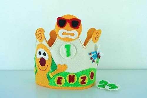 Corona Cumpleaños Infantil Personalizada Mic