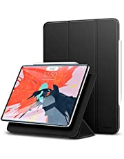 ESR Case for iPad Pro 12.9 inch 2018 Release, [Apple Pencil Compatible] Magnetic Smart Case, Trifold Stand Magnet Case, Magnetic Attachment, Auto Sleep/Wake, Rubberized Cover, Black