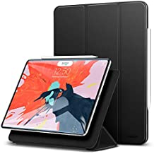 "ESR Yippee Magnetic Smart Case for Pad Pro 12.9"" 2018, [Support Apple Pencil Charging] Trifold Stand Case, Magnetic Attachment, Auto Sleep/Wake, Rubberized Cover for The iPad Pro 12.9"" 2018, Black"