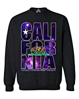 Shop4Ever California Republic Galaxy Crewnecks California Sweatshirts