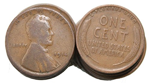 Cent Wheat Roll - 1910-1919 Roll of 50 Wheat Cents
