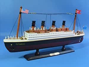 "RMS Titanic 14"" - Titanic Related Cruise Ships - White Star Line Model Ship- Fully Assembled - Model Boat - Model Boats Wooden - Boat Models For Sale - Not a Model Kit"