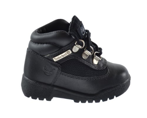Timberland Baby Toddlers Field Boots Black 15806 (4 M US) (Boots Timberland Infant)