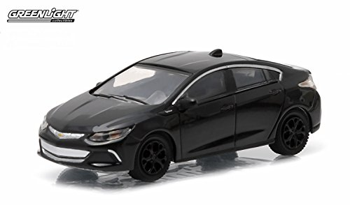 Greenlight 2016 Chevrolet Volt Black Bandit Collection Series 12 2015 Collectibles Limited Edition 1:64 Scale Die-Cast Vehicle