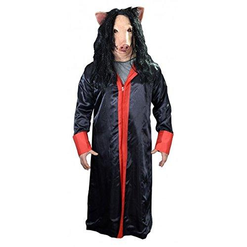 Trick or Treat Studios Men's Saw-Jigsaw Robe, Multi, One Size