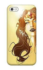 Premium EyTEjke8608zcWZB Case With Scratch-resistant/ Wonder Woman Portrait Case Cover For Iphone 5/5s