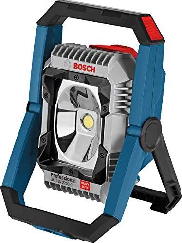 Bosch Professional Akku Baustellenlampe GLI 18V-2200 C (ohne Akku, 14,4/18V, max. Helligkeit 2200 Lumen, im Karton) 0601446501