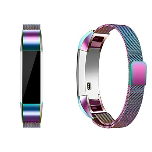 HP95(TM) For Fitbit Alta HR Bands, Replacement Milanese Magnetic Steel Watch Band For Fitbit Alta HR (Multicolor) by HP95(TM) (Image #5)