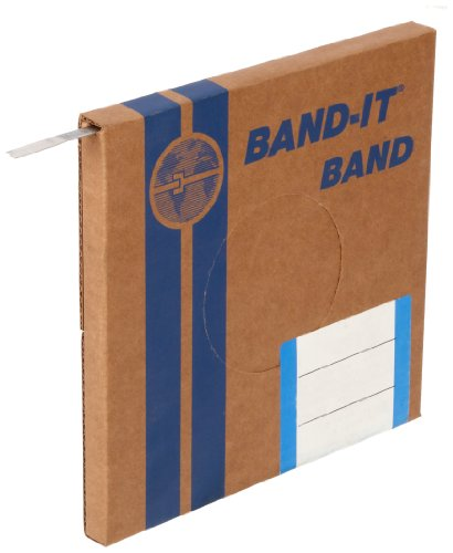 BAND-IT C40399 316 Stainless Steel Uncoated Band, 3/8'' Width X 0.025'' Thick, 100 Feet Roll by Band-It