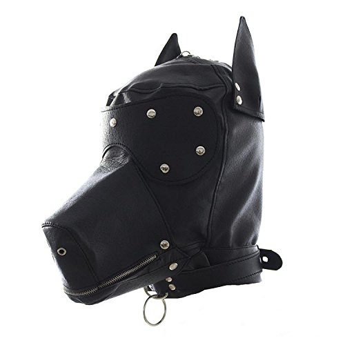LTD Sexy Bdsm Bondage Harness Fetish Zipper Mouth Dog Mask Sex Products Adult Sex Toys For Woman Or Couples,PU Leather Bondage Hood by LTD.