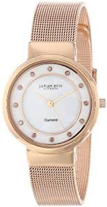 Johan Eric Women's JE6100-09-009 Arhus Diamond Rose Gold Ion-Plated Coated Stainless Steel Watch