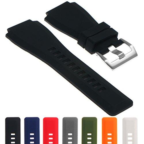 StrapsCo 24mm Silicone Rubber Watch Strap Band