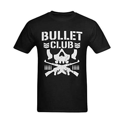 ISPUL Men's Bullet Club Logo Wrestling Art Design T-Shirt (Bullet Mens Tee)