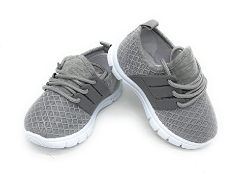 Blue Berry EASY21 Baby Toddler Boys and Girls Breathable Fashion Sneakers,Grey502,Size 9