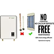 Supergreen IR14K220 Infrared Electric Tankless Water Heater. House 1+ bath. Max 3.6 gpm, 14 kW at 220v, 58.4 amps with Coilless Technology using Quartz. No Corrosion and Maintenance Free.