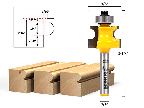 (Yonico 13191q 1/4-Inch Bead Bullnose Bead Router Bit 1/4-Inch)