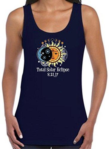 Solar Eclipse Glasses Kids Total Solar Eclipse 2017 Solar Eclipse Viewing Juniors Tank Top Medium Navy