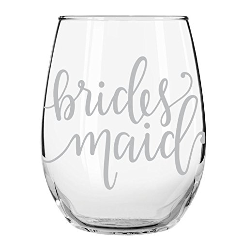 Wedding Party Wine Glasses (Bridesmaid, 1) -