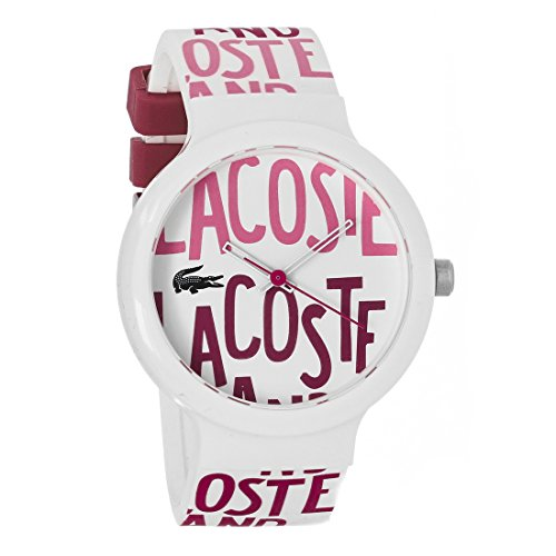 Lacoste Goa Silicone - White/Red-Pink Unisex watch #2020053