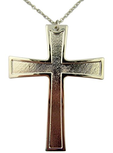 Pewter Pectoral Latin Cross for Clergy or Choir, 4 1/4 (Cross Vestment)