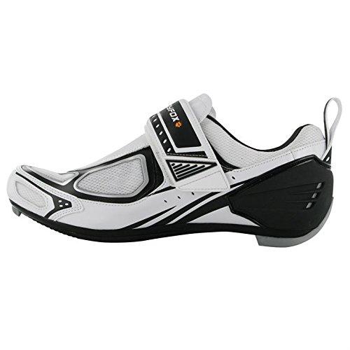Vlo De Hommes Respirant Tri100 Muddyfox Blanc Sport Nouveau Cyclisme Chaussures Noir WtYrdqOnq