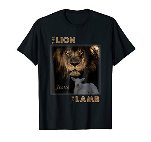 - The Lion And The Lamb Jesus T-Shirt