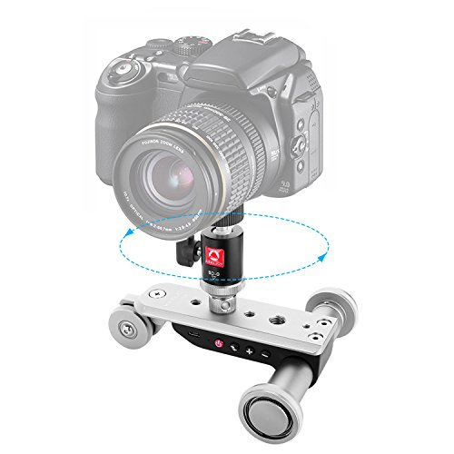 KAMISAFE Mini Motorized Slider Track Dolly, PPL-06S Mobile T