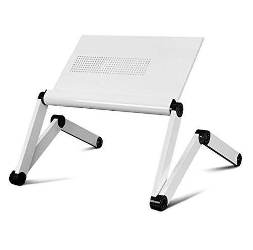 Furinno K6-WH Premium Aluminum 360 Adjustable Portable Folding Lapdesk