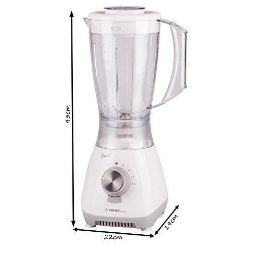 Batidora de vaso | 1,5 l |4 cuchillas | 4 velocidades | Función pulsador | Batidora de vaso para alimentos de bebés | Prepara batidos | Batidos de proteínas ...